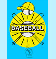 baseball typographical vintage style poster vector image vector image
