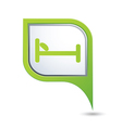 bed GREEN pointer vector image