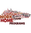 best work at home opportunities text background vector image vector image