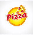 big pizza logo vector image