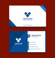 blue stripes business card vector image vector image