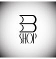 Book shop logo vector image vector image