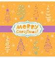 Bright background with fir trees vector image vector image