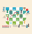 Business board game concept infographic vector image vector image