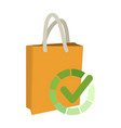 check shopping bag icon design vector image