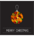Christmas ball Shining bokeh lights effect Merry vector image vector image