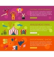 Circus performance entertainment amusement show vector image