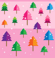 colored geometric forest background pattern pink vector image