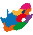 Colorful South Africa map vector image vector image