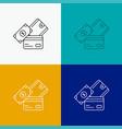 credit card money currency dollar wallet icon vector image vector image