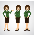 cute cartoon of a beautiful business vector image vector image