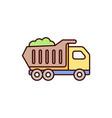 dump truck icon construction truck car vector image