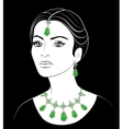 East woman with jewelry vector image vector image