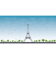 Eiffel Tower with Blue Sky vector image vector image