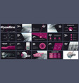 elements for infographics and presentation vector image vector image