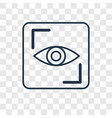 eye scan concept linear icon isolated on vector image