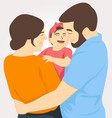 father mother and daughter happy family vector image vector image