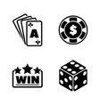 gambling simple related icons vector image