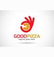 good pizza logo template design emblem design vector image