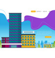 growth of business buildings of company flat vector image vector image