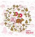 happy chinese new year 2020 card with rat chinese vector image vector image