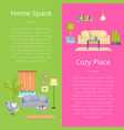 home space and cozy place vector image vector image