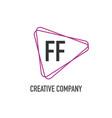 Initial letter ff triangle design logo concept
