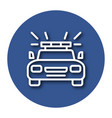 line icon of police car with shadow eps 10 vector image vector image