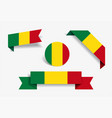 malian flag stickers and labels vector image vector image