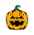 monster yellow pumpkin with triangle hole vector image vector image