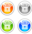 Padlock buttons vector image vector image