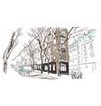 paris european street sketch watercolor vector image