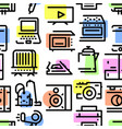 pattern from a set of household appliances icons vector image