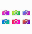 photo camera bright purplebluepinkgreen vector image vector image