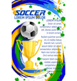 poster for soccer sport football game vector image vector image