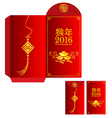 Red packet for Chinese new year Chinese wording vector image vector image