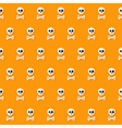 Seamless Halloween Skull Pattern with Bones vector image