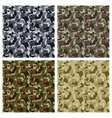 Set of classic camouflage seamless patterns vector | Price: 1 Credit (USD $1)
