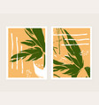 set two abstract poster designs vector image vector image