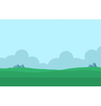 Silhouette of hill nature landscape for game vector image