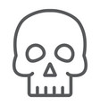 skull line icon halloween and horror bones sign vector image vector image