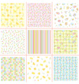 soft patterns vector image vector image