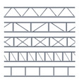 steel truss girder seamless pattern on white vector image