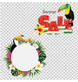 summer tropical banner with toucans vector image vector image