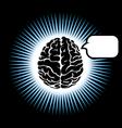 symbol brain vector image vector image