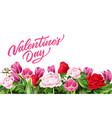 valentine day rose peony tulip flower vector image