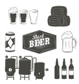 Vintage beer emblems labels and design elements vector image vector image