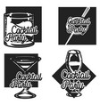 vintage cocktail party emblems vector image