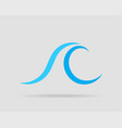 waves design water wave icon wavy lines isolated vector image vector image