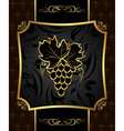 golden frame with grapevine - vector image